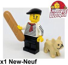 Lego - Figurine Minifig Minifigurine série 17 Connoisseur le français chien NEUF