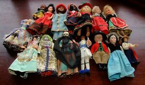 A Collection of Vintage Costume Dolls