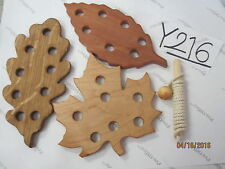 Balero Wood Mexican Toy LEAF SHAPES, Maple Leaf, White Oak Leaf.