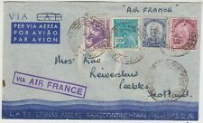 BRAZIL 1940 multi franked cover *PERNAMBUCO-PEEBLES SCOTLAND* via AIR FRANCE