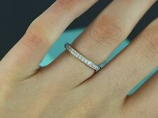 $3,675 Tiffany & Co Legacy Platinum Diamond Full Eternity 2mm Wedding Band 6.25