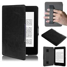 UltraSlim Leder Tasche Schutz Hülle Case für Amazon Kindle Paperwhite 5 Schwarz