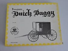 Pennsylvania Dutch Buggy Wooden Model Kit Mennonite Family Carriage 1001 Country
