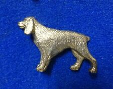 3D Retriever Pointer w/ Stubby Tail Dog Breed Gold Color Heavy Metal Lapel Pin