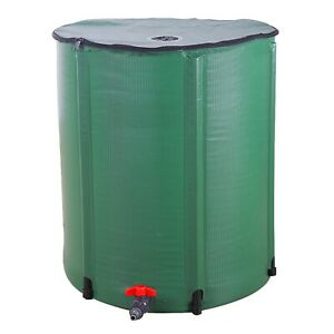 Rain Water Collector Butt Set Container Greenhouse Water Tank Collapsible Barrel
