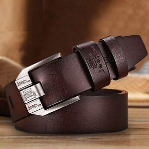 Hombres Jeans Cinturones Cinturones de Pasador y Hebilla Cuero De Vaca Cuero Genuino Faja Correa Cinturón