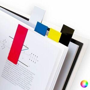 5 x magnetische Lesezeichen Markierung Unterlagen Bücher Magnet Seitenmarker