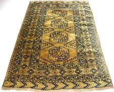 ANTIQUE RARE GOLDEN AFGHAN FINE PURE WOOL ORIENTAL RUG CARPET  NEVER USED MUSEUM