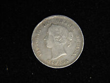 1885 Canada 5 Cents Silver - Young Victoria