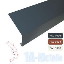 Traufblech Aluminium Rinneneinhang Winkelblech Alu Dachblech RAL Farbe Traufe T