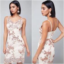 BEBE LANA SEQUIN FLORAL DRESS NWT NEW $129 XXSMALL XXS 0