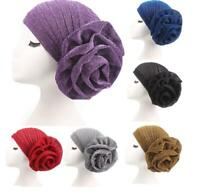 Muslim Women Flower Turban Hijab Elastic Cap Islamic Indian Chemo Hat Headwear