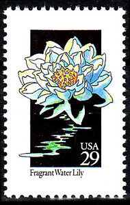 USA postfrisch MNH Seerose Fragant Water Lily Blume Pflanze Flora Natur / 102