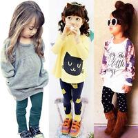 Child Toddler Kids Girls Outfits Clothes Long Sleeve T shirt Tops Pants 2PCS/Set