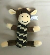 Dog PetsToy Giraffe Stretchable Squeaky Toy Brown and Cream