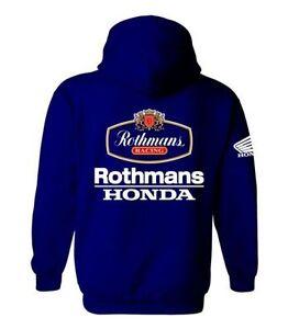 Rothmans Honda Motor Bike Inspired Hoodie (Deep Navy) M