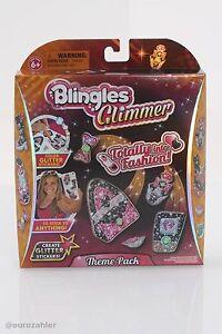 Blingles Glimmer Totally into Fashion Theme Pack Glitter Sticker Set