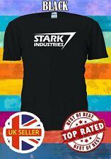 Tango Rosso The Avengers Licenza Ufficiale Stark Industries Logo Uomo Maglietta