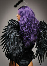 Large Gothic Dark Angel Black Feather Wings