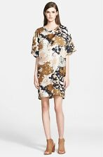 NWT $495 rag & bone 'Chester' Camo Print Silk T-Shirt Dress [sz XS] #1045