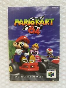 Instruction Manual Only Mario Kart (Nintendo 64 N64) Game Booklet 1st Print #1