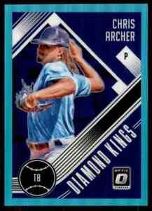 2018 Donruss Optic Aqua Prizm DK Chris Archer 245/299 Tampa Bay Rays #3