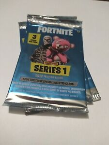 Fortnite Series 1 Factory Sealed Booster Pack ( 2019 ) 3 card Panini booster
