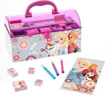 Original Disney Anna Elsa Olaf Stamp Coloring Art Activity Set Kit Xmas Gift