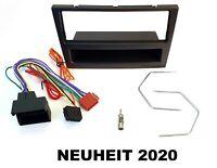 Radioblenden SET Adaper Kabel Set Opel Astra G Corsa C Zafira B Vectra C schwarz