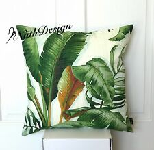 COLLECTION Tommy Bahama Green, Cream Tropical Palm Leaf 45 Cm Cushion Cover
