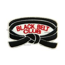 New BLACK Belt Club Patch Taekwondo Karate JiuJitsu Judo Martial Arts Uniform