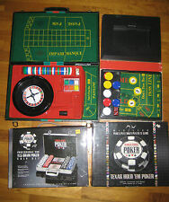 CASINO GAMES LOT- NEW TEXAS HOLD EM POKER,NEW CHIPS,ROULETTE GAME,CRAPS GAME