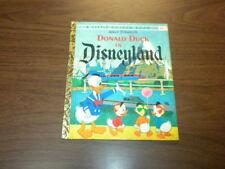 DONALD DUCK IN DISNEYLAND - Little Golden Book 1955/1960 old 25 cent edition