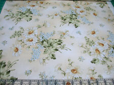 2.4 Yards Quilt Cotton Fabric - Maywood Gentle Breeze Daisies Tossed Tan Cream