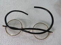 Vtg Gandhi Chasma Round Glasses metal frame & Box Mahatma Gandhi Collectible