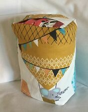 UP UP & AWAY HOT AIR BALLOONS & ANIMALS FABRIC DOOR STOP ... UNFILLED