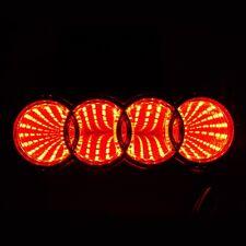 RED 3D LED Car Tail Logo Light Badge Lamp Emblem Sticker for Audi 12V