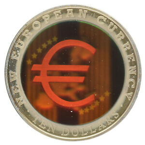 Liberia - Copper-Nickel 10 Dollars Coin - 'New European Currency' - 2003 - UNC
