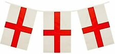 St George's Cross England Bunting Flags Unique Party 47778 32ft Plastic Plates