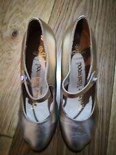 Vivienne Westwood Mary Jane Gold Heel Shoes Size36/UK3 Vintage Leather RRP£340