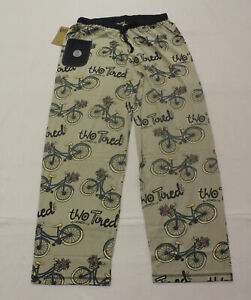 Lazy One Women's Two Tired Regular Fit Knit Bicycle PJ Pant DG4 Gray Large NWT