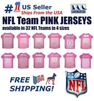 NFL Pink Jersey for DOGS & CATS. 32 Teams & 4 sizes - Licensed Football Jerseys