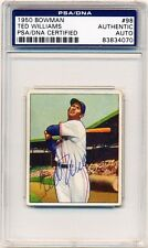 TED WILLIAMS 1950 Bowman #98 AUTOGRAPH PSA/DNA Authentic AUTO SIGNED Red Sox