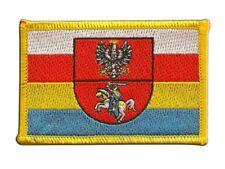 Polen Woiwodschaft Podlachien Aufnäher Flaggen Fahnen Patch Aufbügler 8x6cm