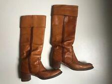 Vintage Frye Tan Camel Brown Campus Knee High Boots 9 9.5