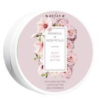 Refan Body Cream Magnolia Rose Shea Butter Cocoa Hydrates Shine Soft 200 ml