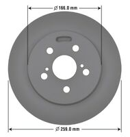 Disc Brake Rotor-Disc Rear OMNIPARTS 13060272