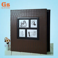 High-grade PU 6 inch 400 Pockets photo album for family (brown)