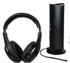 98BW RF Multifunction Wireless Headphone FM Headset Earphone For TV Phone PC