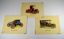 3 Vintage 1958 Art Prints ~ Early 1900s Autos by Frederick Elmiger #160304-01